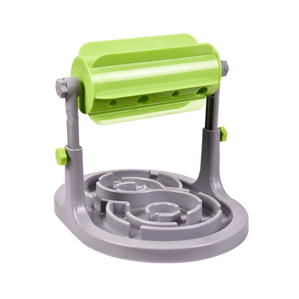 Roller Type Adjustable Food Dispenser for Cats and Dogs