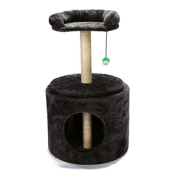Rotatable Cat Tree Condo With Scratching Posts
