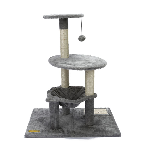 Round Cat Tree Tower With Hammock