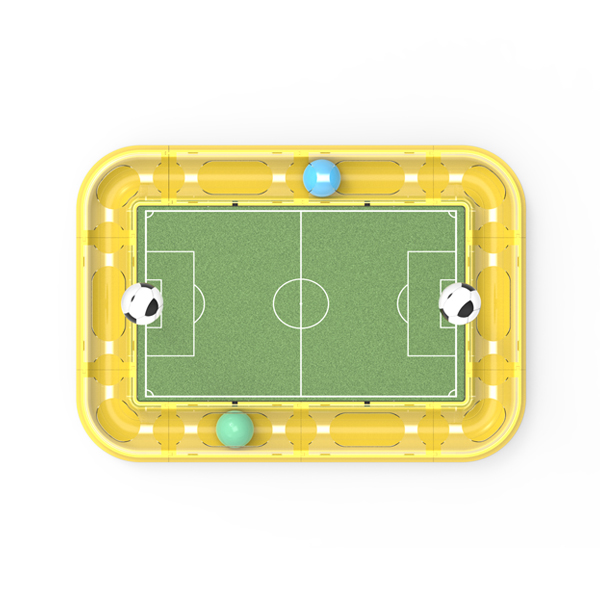 Soccer-Court Roller Circuit Cat Toy with Scratch Board