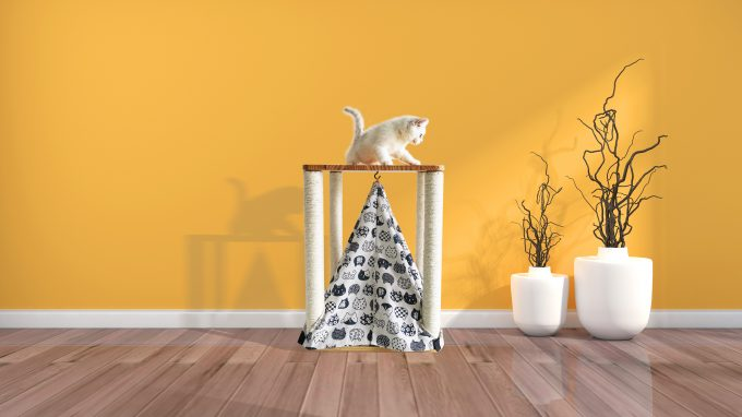 Cat Tree Scratching Post Tower With Tent