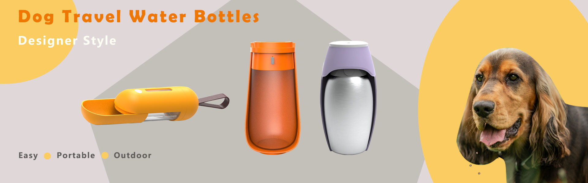 Dog travel water bottles