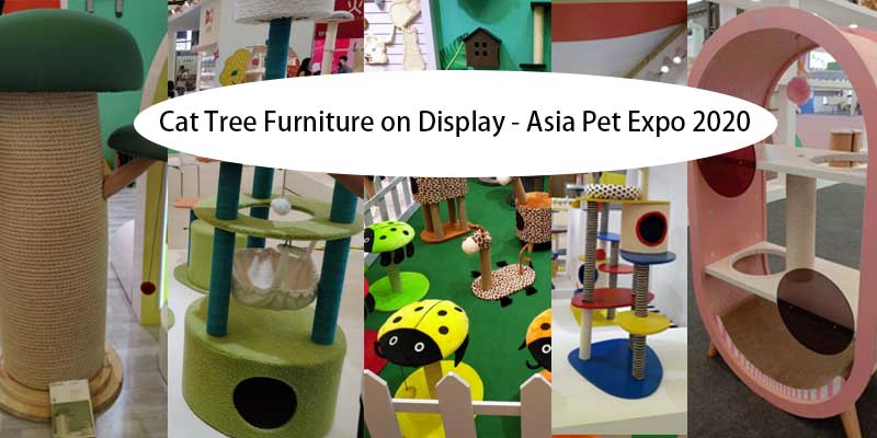 cat tree furniture in asia pet expo