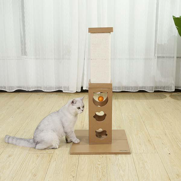 Cat Plays With Cat Roman Column Sisal Scratch Post